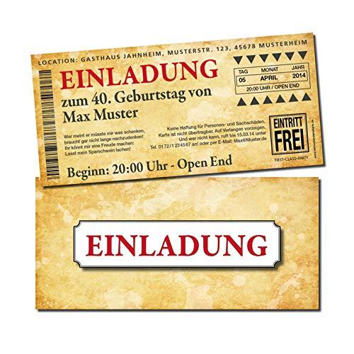 Eintrittskarte Einladung Einladungskarte Geburtstag 2