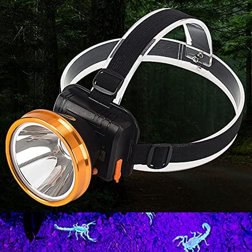 YSJJQSC Linterna frontal LED Scorpion cabeza de detección de antorcha 18650 recargable linterna de caza 2 modos lámpara de emergencia de camping (color emisor: modelo B)