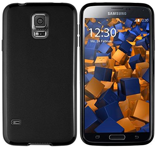 mumbi Hülle kompatibel mit Samsung Galaxy S5 / S5 Neo Handy Case Handyhülle, matt schwarz