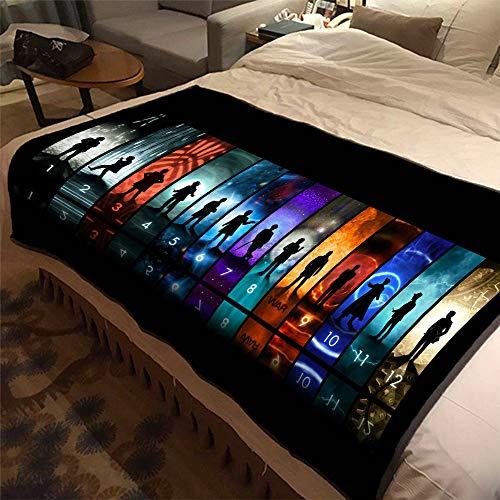 ASDIWON Doctor Who Hochwertige warme weiche Flanell Plüsch auf der Schlafsofa Decke Geeignet für Klimaanlage Decke Nap Decke (C,150x200cm(60x80in))