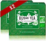 Kusmi Tea - Tè Verde alla Menta Bio - Da Gustare Caldo o Freddo - Bevanda Dissetante Trad...