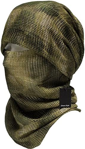 Dhana Style Sniper Veil Tactical Camouflage Mesh Net Camo Scarf Army Shemagh Ghillie Netting product image