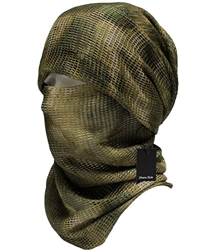 Dhana Style Sniper Veil Tactical Camouflage Mesh Net Camo Scarf Army...