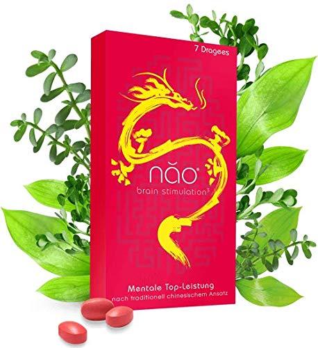 5 Wochen Kit - Nao® Brain Stimulation - Premium Nootropic Kapseln - Mentale Top-Leistung nach Traditionell Chinesischen Ansatz - Das natürliche Brainfood - Made in Germany - 5x7 Dragees