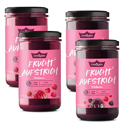 Low Carb Fruchtaufstrich - 4x250g - Himbeer & Waldfrucht