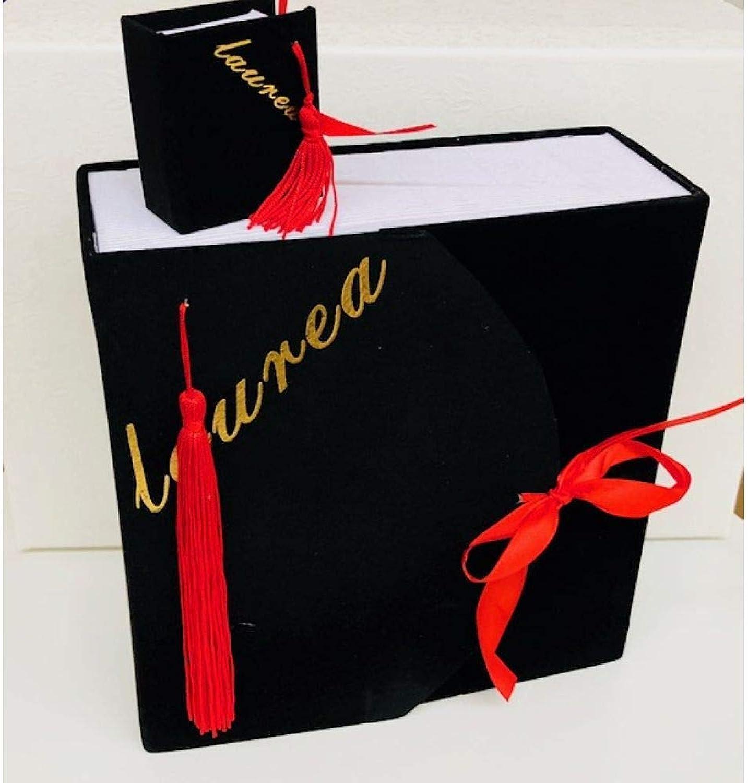 Pubviolancio srl Libro Laurea Nero Velluto con 24 scatoline portaconfetti BOMBONIERA