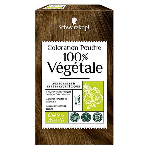 Schwarzkopf - 100% Végétale - Coloration Cheveux Poudre Naturelle - Formule Végane - Châtain Noisette
