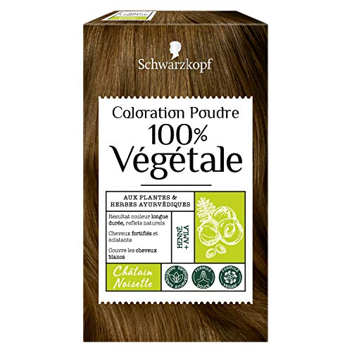 Schwarzkopf - 100% Végétale - Coloration Cheveux Poudre Naturelle - Couvre les Cheveux...