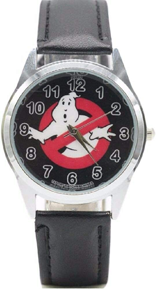 Ghostbusters No Ghost Logo Black Weekly update Watc Superior Wrist Leather Genuine Band