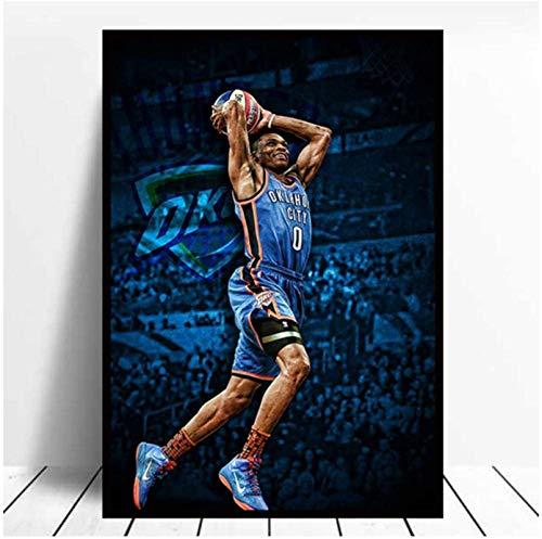 CAPTIVATE HEART Impresión de Lienzo 60x90 cm sin Marco NBA Houston Rockets Russell Westbrook póster impresión impresión hogar habitación Pared Pintura Decorativa
