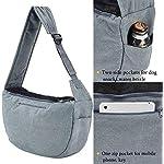 Maxmer Pet Sling Carrier, Dog Sling Bag Shoulder Carry Tote Handbag Dog Travel Carrier Bag for Cat Puppy Kitty Rabbit Bunny 13