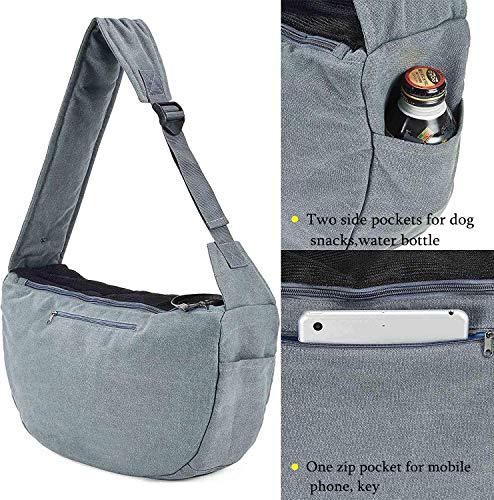 Maxmer Pet Sling Carrier, Dog Sling Bag Shoulder Carry Tote Handbag Dog Travel Carrier Bag for Cat Puppy Kitty Rabbit Bunny 6