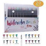 Set de 20 pinceles de pintura de acuarela con agua recargable para colorear pluma para dibujar pintura caligrafía arte regalo para niños