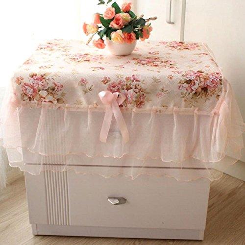 LD&P Europese stijl pastorale stijl nachtkastje deksel stofomslag, multifunctionele kant tafelkleed klein tafelkleed, gemakkelijk te reinigen slijtvast gebruik van hoge kwaliteit tafelkleed