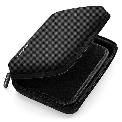 """deleyCON Navi Case Funda para Dispositivos de Navegación de hasta 6 &"""" 6,2"""" Pulgadas (17x12x4,5cm) - Sólida - Un Compartimiento Interior - Negro"""