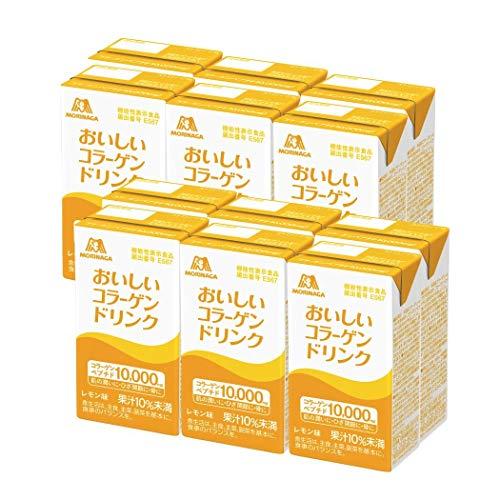 森永製菓 おいしいコラーゲンドリンク 125ml×12本 レモン味 [ 美容 コラーゲン セラミド ビタミンC ビタミンD 脂質ゼロ ]
