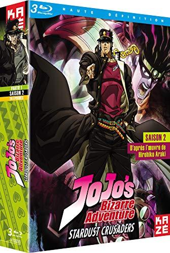 ジョジョの奇妙な冒険 2nd Season スターダストクルセイダース Blu-ray BOX 1/2 (第1-24話)[Blu-ray Region B](海外Import版)
