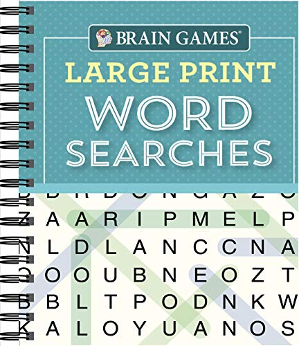 Compare Textbook Prices for Brain Games - Large Print Word Searches Teal  ISBN 9781640304604 by Brain Games,Publications International Ltd.