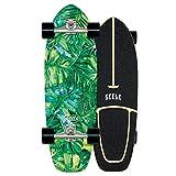 WRISCG Surfskate Skateboard Completo Arce Tablero 78×24cm, Rodamientos de Bolas ABEC Alta velicidad, 7 Capas Arce Duro, Carga de hasta 150 kg, para Principiantes y Profesionales,B