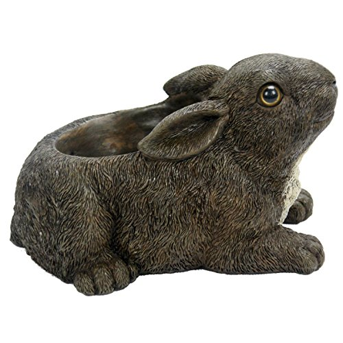 Michael Carr Designs Rabbit Planter Outdoor Rabbit Planter Figurine for Gardens, patios and lawns (80082)