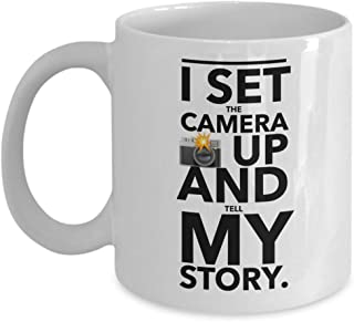Entertainer Coffee Mug - I Set The Camera Up And Tell My Story Quotes Actor Comedian Playwright Filmmaker Stardom Celebrity Movie Film Fame Fan 11 Oz