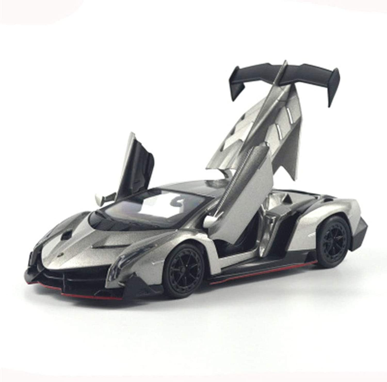 HBWJSH Car Model 1 24 Alloy Car Model Simulation Metal Car Model Toy, Size  21X8.5X4CM (color   Silver)