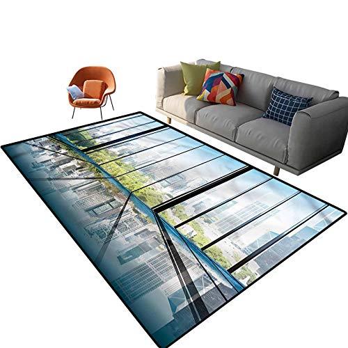 Alfombra rectangular de 4 x 6 pies, con parte trasera antideslizante para entrada, sala de estar, dormitorio, guardería, sofá, decoración del hogar
