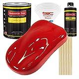 Restoration Shop - Rally Red Acrylic Enamel Auto Paint - Complete Gallon Paint Kit - Professional Single Stage High Gloss Automotive, Car, Truck, Equipment Coating, 8:1 Mix Ratio, 2.8 VOC