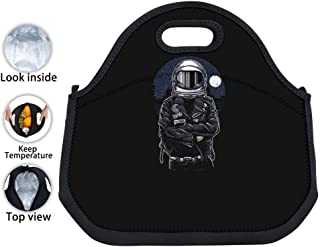 ENPENGOOD Cool Space Astronaut Tin Foil Lunch Bag Waterproof Bento Tote Boxes Leakproof Snack Handbags