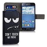 kwmobile Coque Samsung Galaxy S4 Mini Portefeuille - Étui à Rabat Simili Cuir pour Samsung Galaxy S4 Mini avec Compartiment...