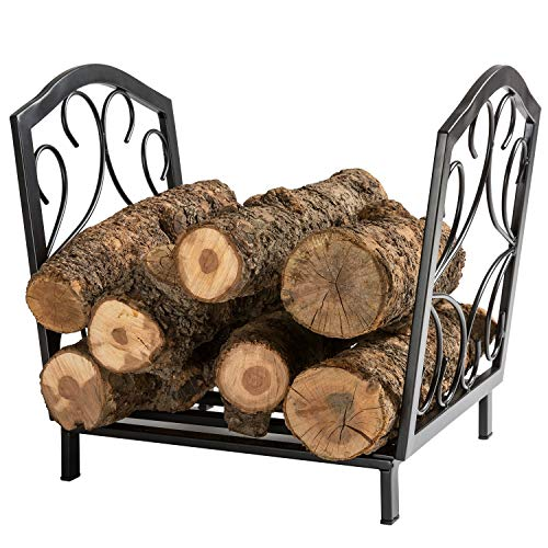 DOEWORKS 17 Inch Small Heavy Duty Indoor/Outdoor Firewood Racks Steel Wood Storage Log Rack Holder