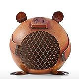 LSX Piggy Piggy Bank Metal Decoraciones caseras Creativas Hierro Forjado Piggy Bank para niños Adulto Banco de Monedas Decoración de Regalo- (2 Piezas)