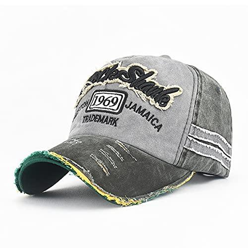 SXXYTCWL Gorros camioneros curvados clásico retro sombrero de béisbol hombres ajustable de baja llave negro lavable algodón casquillo desestructurado papá caps cola de caballo gorra de béisbol para mu
