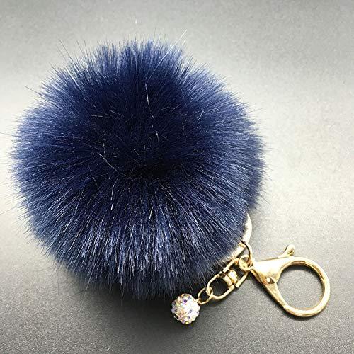 dontdo Schlüsselanhänger für Damen und Mädchen, Kunstfell, flauschiger Pompon, Ball, Auto-Anhänger, Handtasche, Schlüsselanhänger, 10# Pink