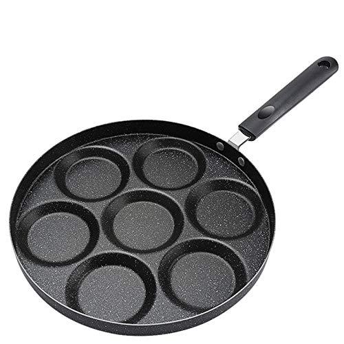 7 Agujeros Redondos Sartén De Tortilla Espesa Sartén Antiadherente Para Panqueques De Huevo Sartén Para Cocinar Huevos Para Jamón Máquina Para El Desayuno,B