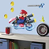 RoomMates Nintendo Mario Kart 8 Peel And Stick Giant Wall Decals - RMK3001GM,Multicolor
