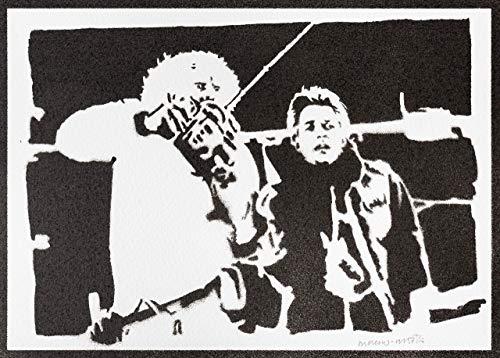 Zurück in die Zukunft Poster Plakat Handmade Graffiti Street Art - Artwork