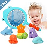 Lehoo Castle Badespielzeug Baby ab 3 jahr, Badewanne Spielzeug Kinder, Badespielzeug mit Fischernetz...