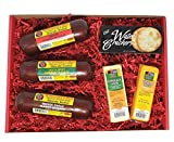 The Man's Snacker Sausage, Cheese & Cracker Gift Basket - 100% Wisconsin Cheese and Sausage Gift to Send for Birthday Gifts, Thank you Gifts, College Snacks or for any occasion!