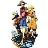XKMY Figura de acción Game One Piece Naruto Dragon Ball PVC Figura de acción 180mm Anime Game Luffy Goku Naruto Figurita de juguete Diorama (color: sin caja al por menor)