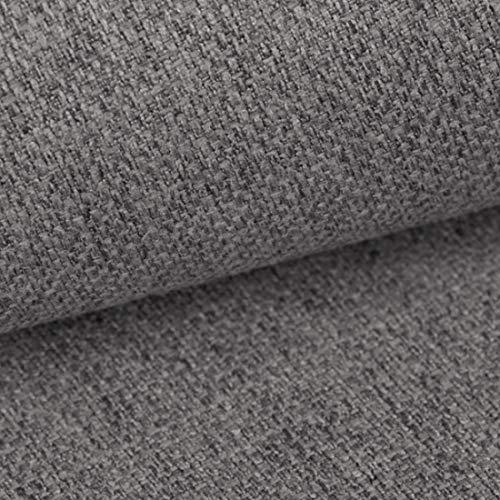 HEKO PANELS Tissus au Metre Ameublement Tissus au Metre pour Couture - 100% Polyester Résistant à la Déchirure et aux Rayons UV - Tissus Ameublement pour Fauteuil Sofa Chaise - Grise