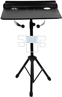 Tattoo Workstation, Detachable Tattoo Mobile Stand Portable Height Adjustable Tattoo Desk Table with Service Tray for Beauty Salon and Tattoo Studio