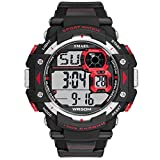 Men's Digital Watch, Fashionable Outdoor Watch with White Background, Simple Military Style Watch, LED Display Multi-Functional Sports Watch