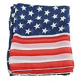REFURBISHHOUSE Bufandas de Bandera Americana de los Estados Unidos com Tema Patriotica Para Mujeres Chica