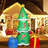6 Ft Christmas Inflatable Tree with Multicolor Gift...