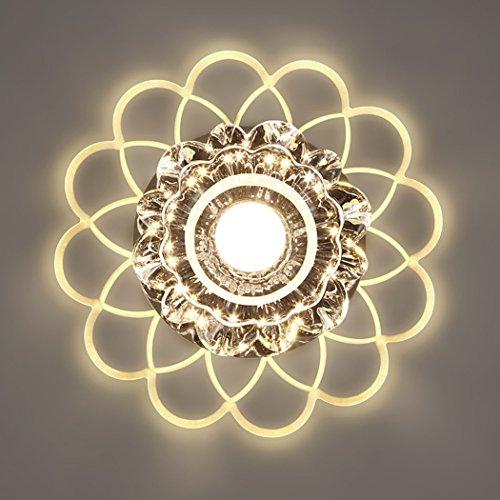 LED Ceiling Light Crystal 220V Flush Mount Lamp for Hallway