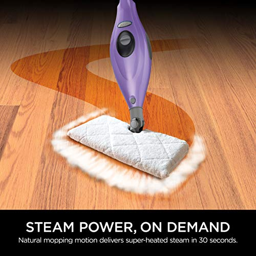 Shark Steam Pocket Mop Hard Floor Cleaner with Swivel Steering XL Water Tank (S3501), 18 Feet Power cord