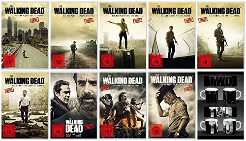 The Walking Dead Staffel 1-9 Uncut + Tasse/Kaffebecher (1+2+3+4+5+6+7+8+9, 1 bis 9) [DVD Set]