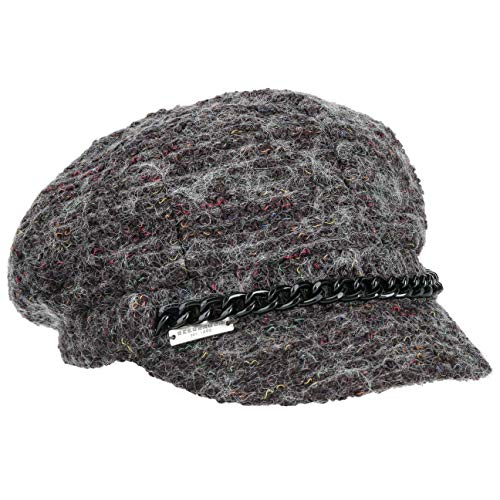 Seeberger Tweed Ballonmütze Schildmütze Baker-Boy-Mütze Newsboy-Mütze Damencap (One Size - anthrazit-meliert)