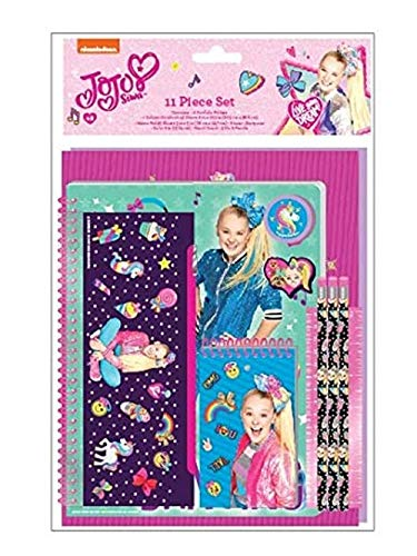 Innovative Designs JoJo Siwa School Supplies Set for Girls with Pencil Case, Notebook, Pencils + More!